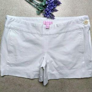 Lilly Pulitzer White Sloane Shorts size 6-8
